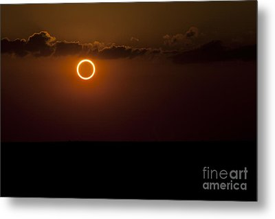 Totality During Annular Solar Eclipse Metal Print by Phillip Jones