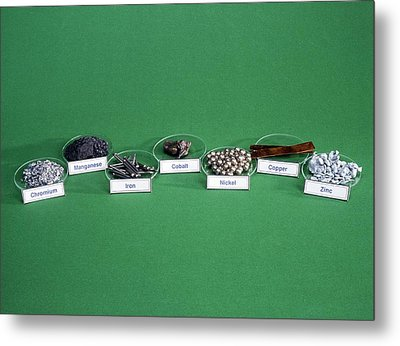 Transition Metals Metal Print by Andrew Lambert Photography