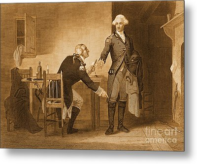 Treason Of Benedict Arnold, 1780 Metal Print by Photo Researchers