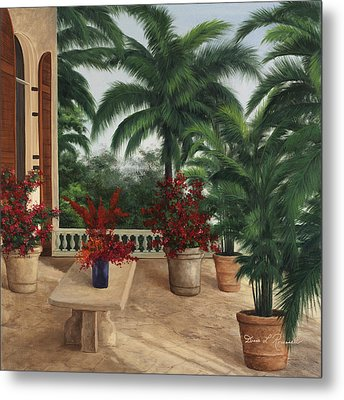 Tuscan Patio Metal Print