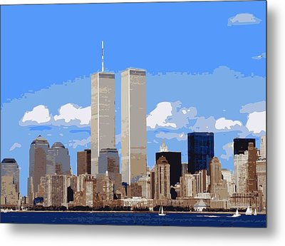 Twin Towers Color 16 Metal Print by Scott Kelley