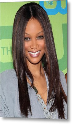 Tyra Banks At Arrivals For The Cw Metal Print by Everett