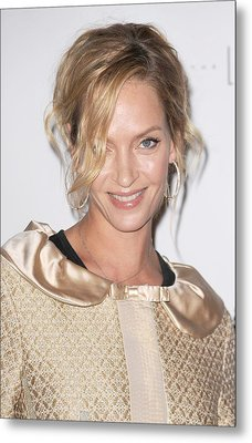 Uma Thurman In Attendance For Friars Metal Print by Everett
