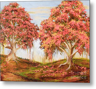 Under The Trees Metal Print by Vic  Mastis