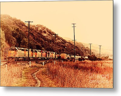 Union Pacific Locomotive Trains . 7d10558 Metal Print by Wingsdomain Art and Photography