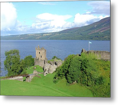 Metal Print featuring the photograph Urquhart Castle by Charles and Melisa Morrison