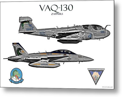 Vaq-130 Prowler And Growler Metal Print by Clay Greunke