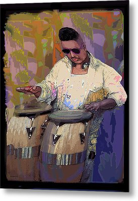 Venice Beach Drummer Metal Print by Alice Ramirez