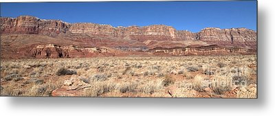 Vermillion Cliffs Panorama Metal Print by Bob and Nancy Kendrick
