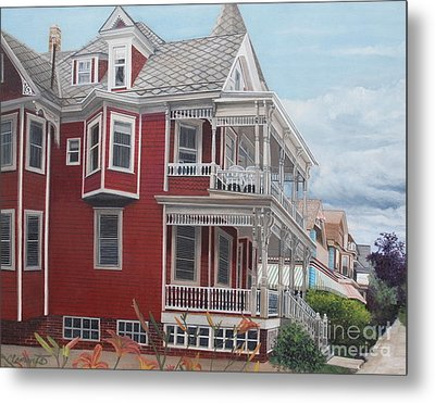 Victorian Afternoon Cape May Metal Print