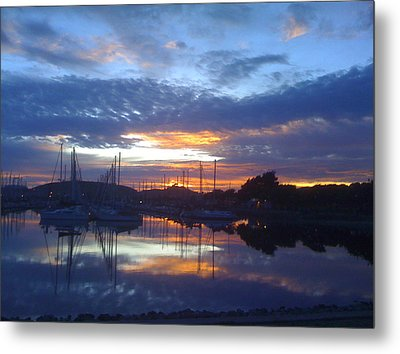 Volcanic Reflections Metal Print