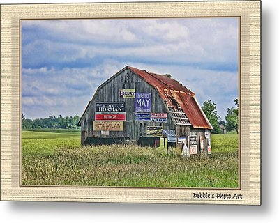 Metal Print featuring the photograph Vote For Me II by Debbie Portwood