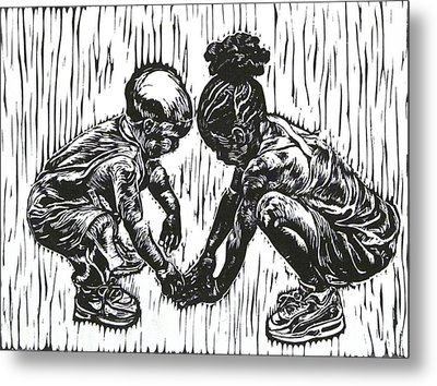 Wanna Play Metal Print by Sabrina McGowens