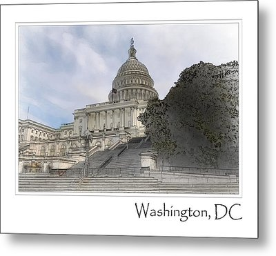 Washington Dc Capitol Hill Building Metal Print by Brandon Bourdages
