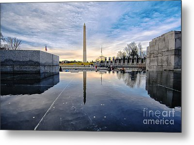 Washington Monument From The World War II Memorial Metal Print