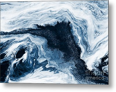 Water Abstraction Metal Print by Iryna Shpulak