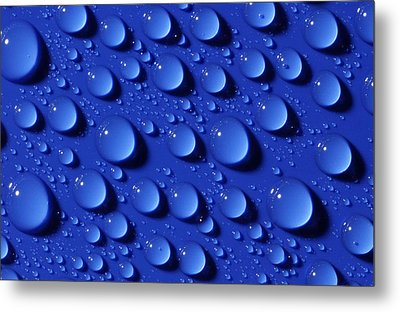 Water Droplets Metal Print by Courtesy Of Crown Copyright Fera