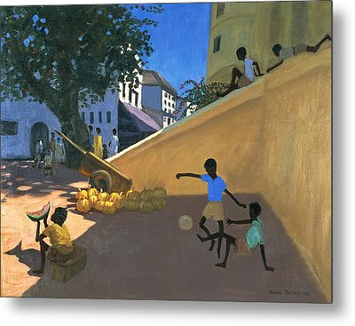 Water Melons Metal Print by Andrew Macara