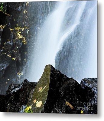 Waterfall In Auvergne Metal Print by Bernard Jaubert