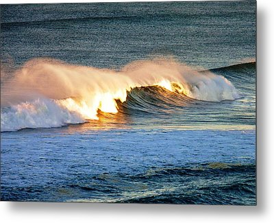 Wave At Sunrise Metal Print