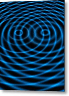 Wave Interference Patterns, Artwork Metal Print by Victor De Schwanberg