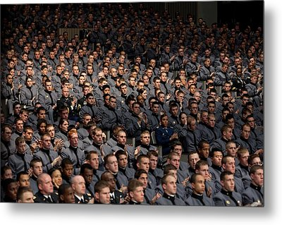 West Point Cadets Applaud President Metal Print by Everett