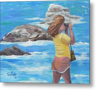 Metal Print featuring the painting What's Out There by Terry Taylor