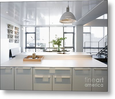 White Counters And Dining Area Metal Print by Andersen Ross