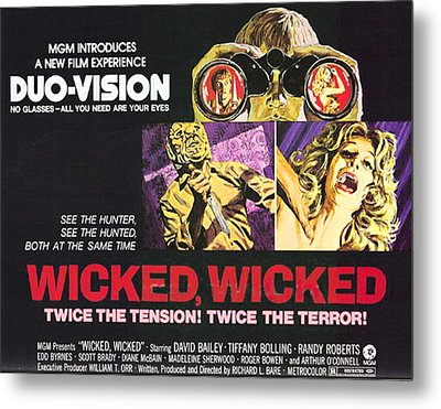 Wicked, Wicked, Top And First From Left Metal Print by Everett