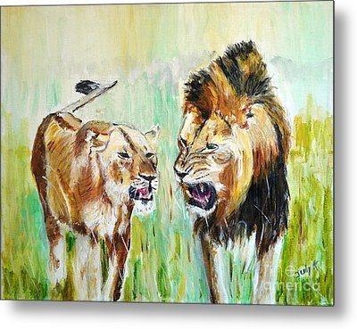 Metal Print featuring the painting wild Kingdom by Judy Kay