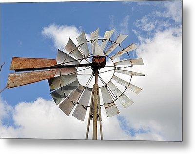 Windmill Metal Print by Teresa Blanton