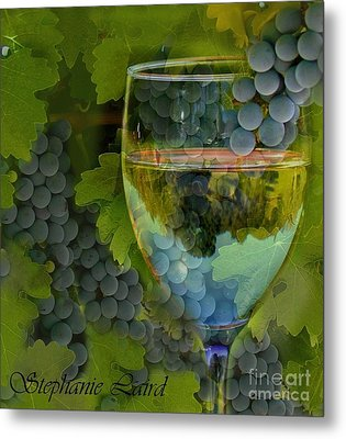 Wine Glass Metal Print by Stephanie Laird
