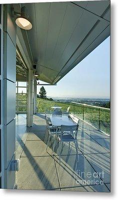 Wine Tasting Balcony Metal Print by Rob Tilley
