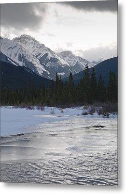 Winter Landscape, Banff National Park Metal Print by Keith Levit