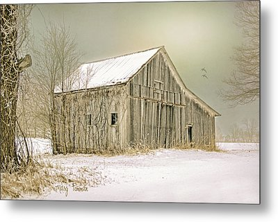 Metal Print featuring the photograph Winter's Barn by Mary Timman