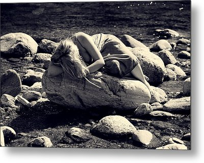 Woman In River Metal Print by Joana Kruse