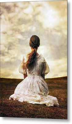 Woman On A Meadow Metal Print by Joana Kruse