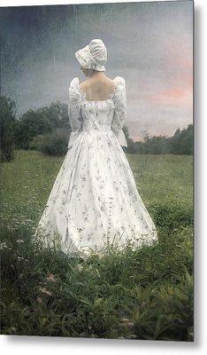Woman With Bonnet Metal Print by Joana Kruse