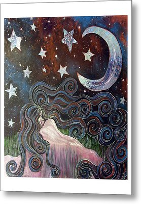 Metal Print featuring the painting Wonder Of Night by Monica Furlow