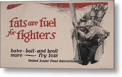 World War I, Poster Showing Soldiers Metal Print by Everett