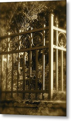 Metal Print featuring the photograph Wrought Iron Fence by Robin Regan
