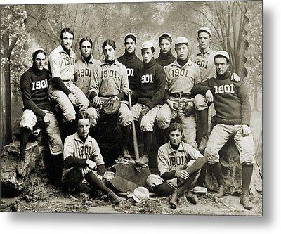 Yale Baseball Team, 1901 Metal Print by Granger