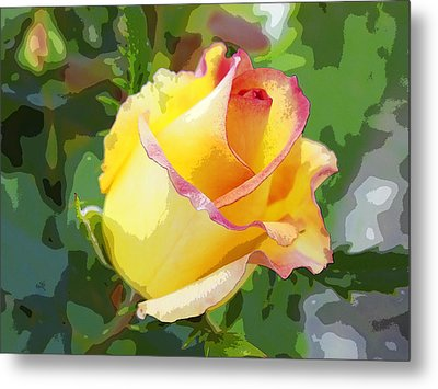 Metal Print featuring the photograph Yellow Rose by Anne Mott