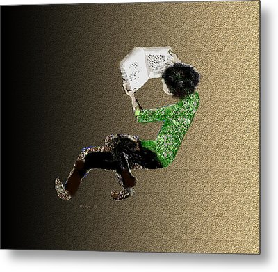 Metal Print featuring the digital art Young Reader by Asok Mukhopadhyay