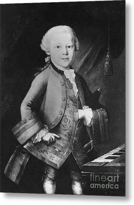Young Wolfgang Amadeus Mozart, Austrian Metal Print by Omikron