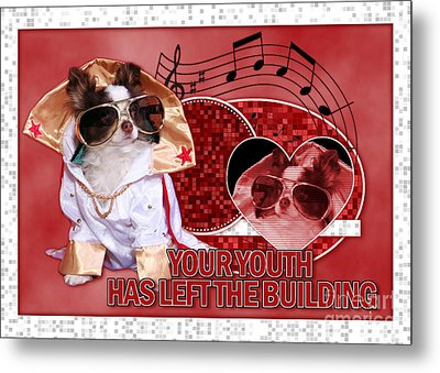 Your Youth Has Left The Building Metal Print by Renae Laughner