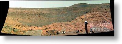 Panoramic View Of Mars Metal Print by Stocktrek Images