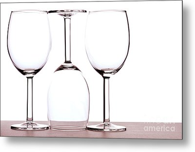 Wine Glasses Metal Print by Blink Images