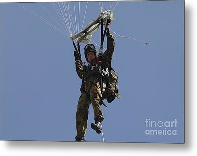 A Member Of The Pathfinder Platoon Metal Print by Andrew Chittock