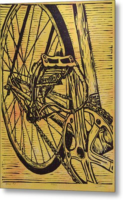 Metal Print featuring the drawing Bike 3 by William Cauthern